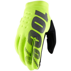 100% Brisker Cold Weather Guantes, yellow/black